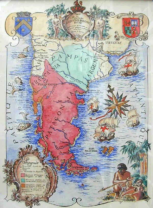 El territorio ancestral mapuche según la organización con sede en Bristol abarca todo lo que está al sur del Bío-bío (Chile) y al sur del Salado y del Colorado (Argentina)