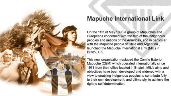 En el nº 6 de Lodge Street, Bristol, UK, tiene su sede, desde el año 1978, The Mapuche Nation