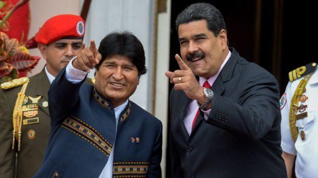 Evo Morales fue de los primeros en salir a defender al gobierno de Venezuela/ AFP