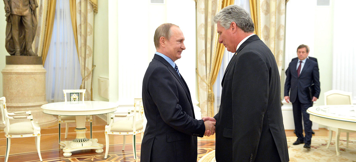 Vladimir Putin y Miguel Díaz Canel.