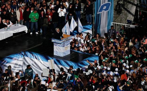 Moyano, en un acto contra el Gobierno de Macri