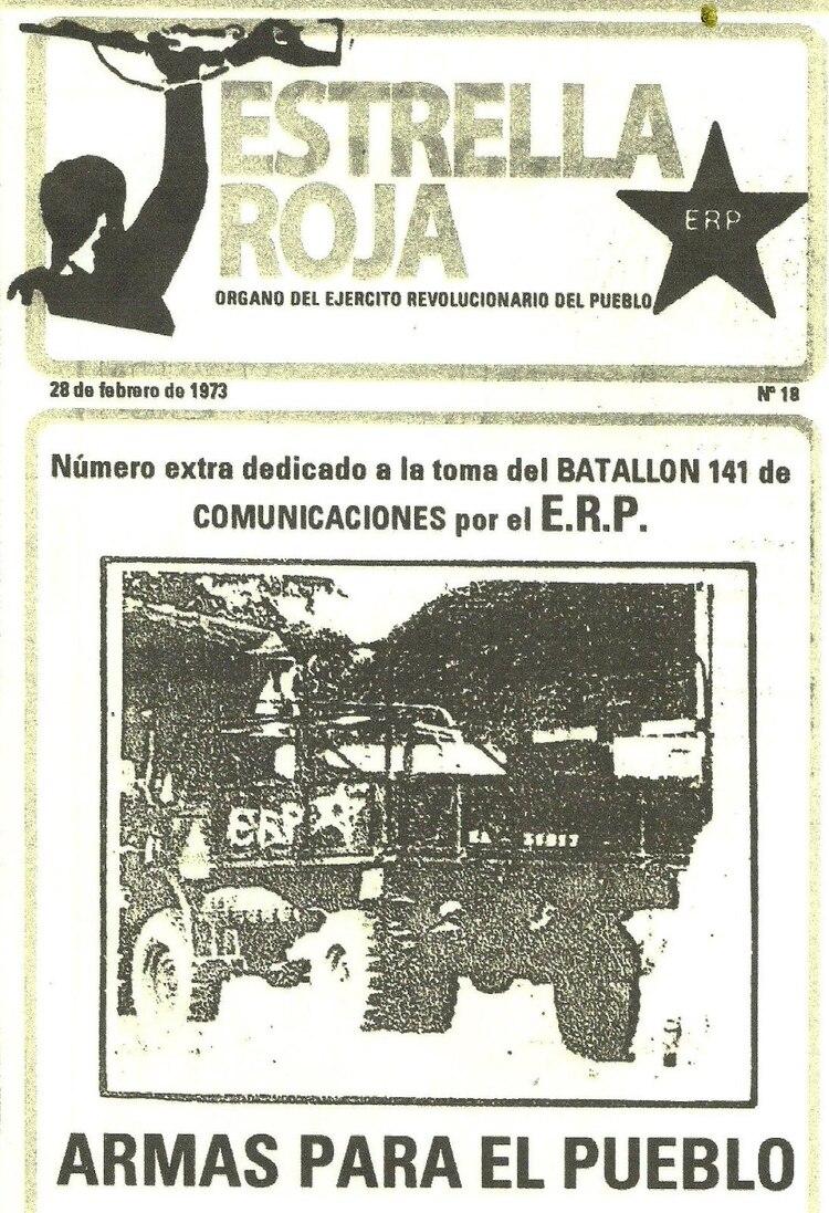 Tapa de la revista del ERP informando el ataque al Batallón 141