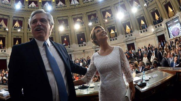 Alberto Fernández y su pareja, Fabiola Yañez (Presidencia)