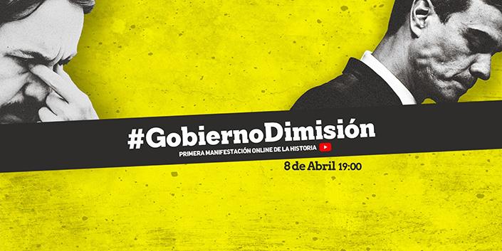 Manifestación online este miércoles para pedir la dimisión del Gobierno: así puedes participar