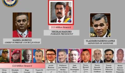 """La Fiscalía de EEUU: """"El Cártel de los Soles, liderado por Maduro, introdujo la mayor cantidad posible de cocaína"""""""