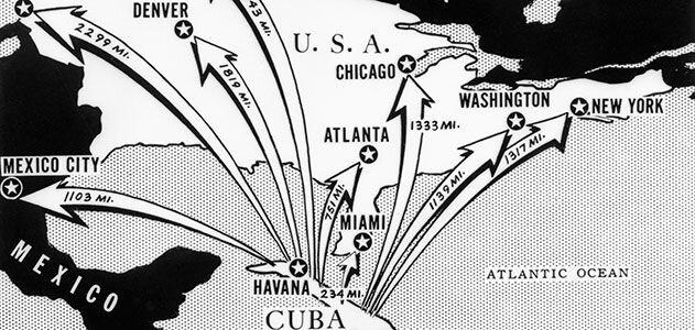 Durante la crisis de los misiles cubanos, las ojivas soviéticas en suelo cubano habrían destruido las principales ciudades de Estados Unidos.  (Bettmann / Corbis)