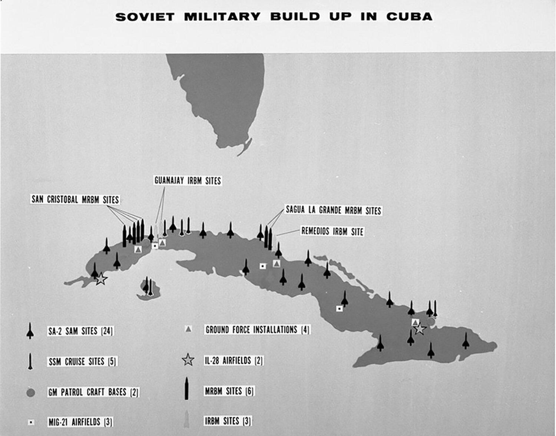 Materiales de información sobre crisis de misiles cubanos del Departamento de Defensa.  Biblioteca y Museo Presidencial John F. Kennedy, Boston