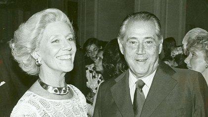 Amalia Lacroze de Fortabat con Daniel Tinayre