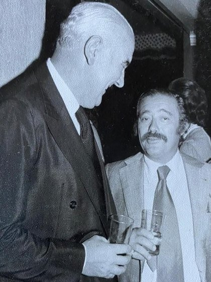 "Alejandro Agustín Lanusse y ""Tato"" Bores"