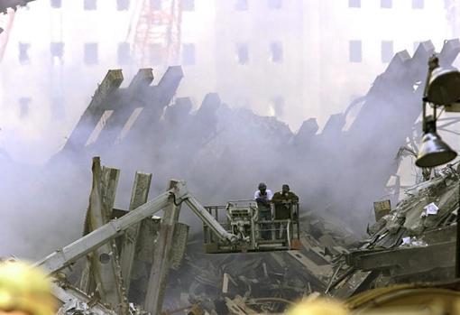 La zona cero en Nueva York tras los ataques del 11-S